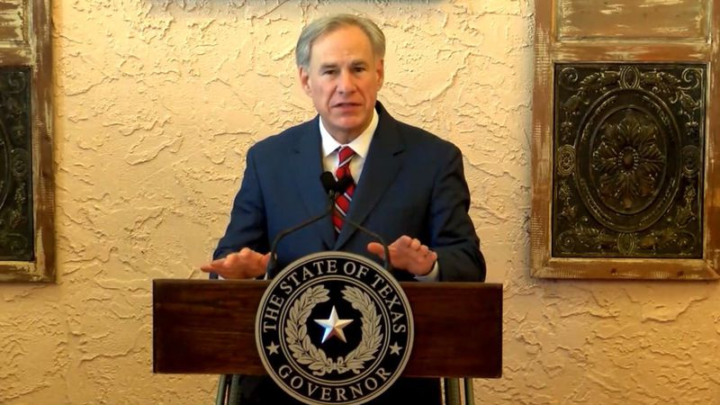 Texas Governor Greg Abbott announces lifting of mask mandate and full reopening of businesses...