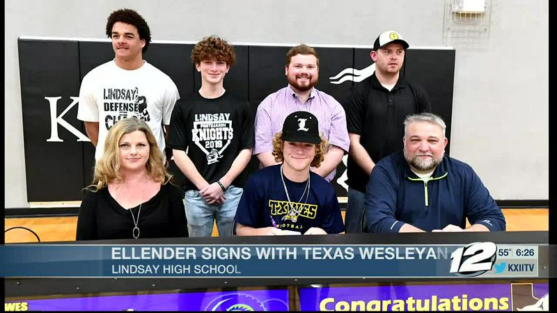 Lindsay's Ellender signs with Texas Wesleyan for football