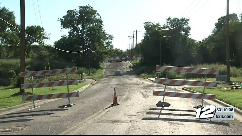 Lamberth road in Sherman is getting torn apart, as crews work to replace the bridge and...
