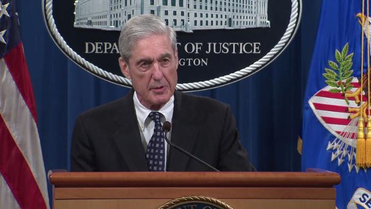 Special counsel Robert Mueller said during his first public remarks on the Russia investigation...