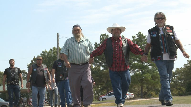 A dozen people joined SW Suicide Awareness and Prevention for the first walk for suicide...