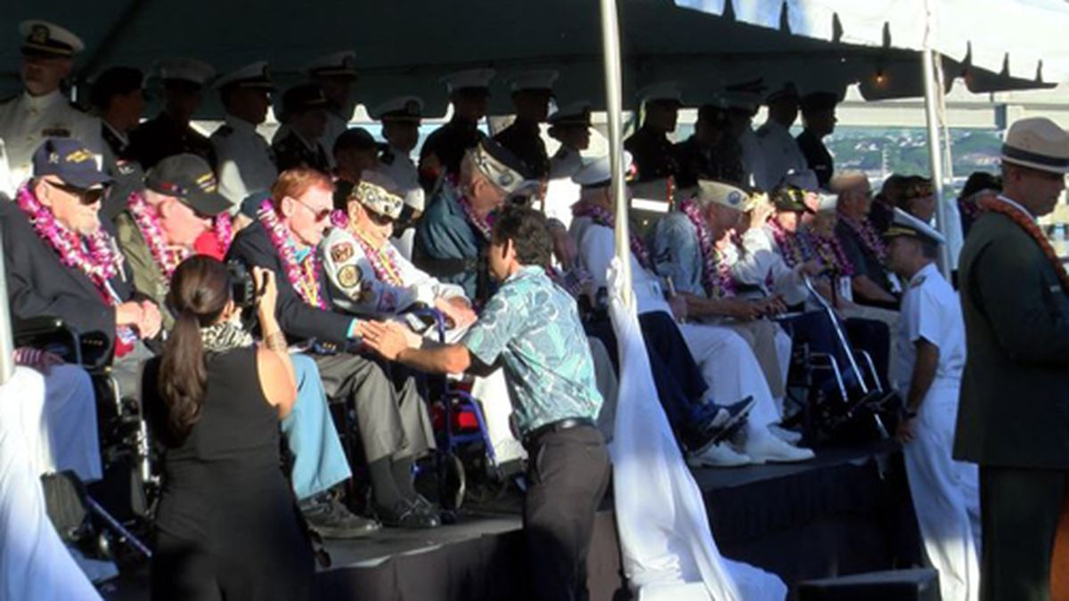 Veterans were recognized Saturday morning in the Pearl Harbor commemoration event. (Source: HNN)