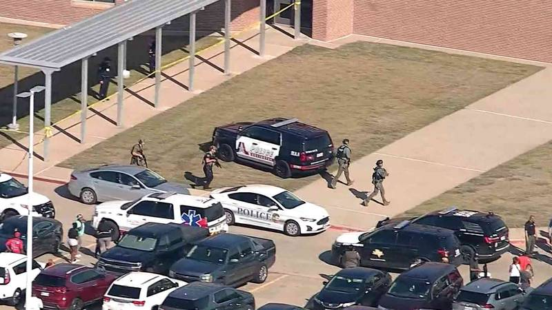 Classes at Timberview High School in Arlington resumed today for the first time since a...