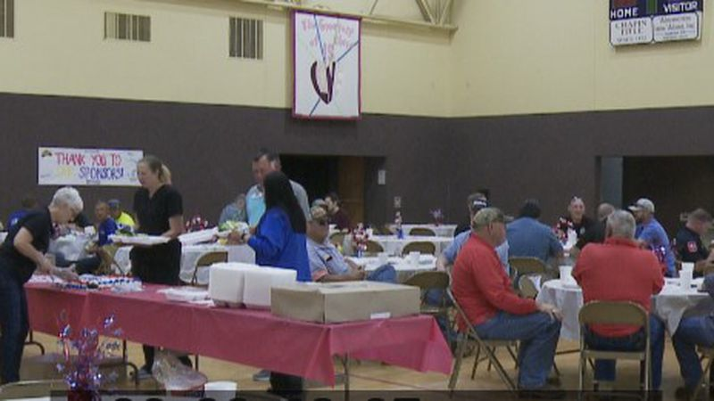 Grand Central Station hosts annual first responders lunch at United Methodist Church in Sherman