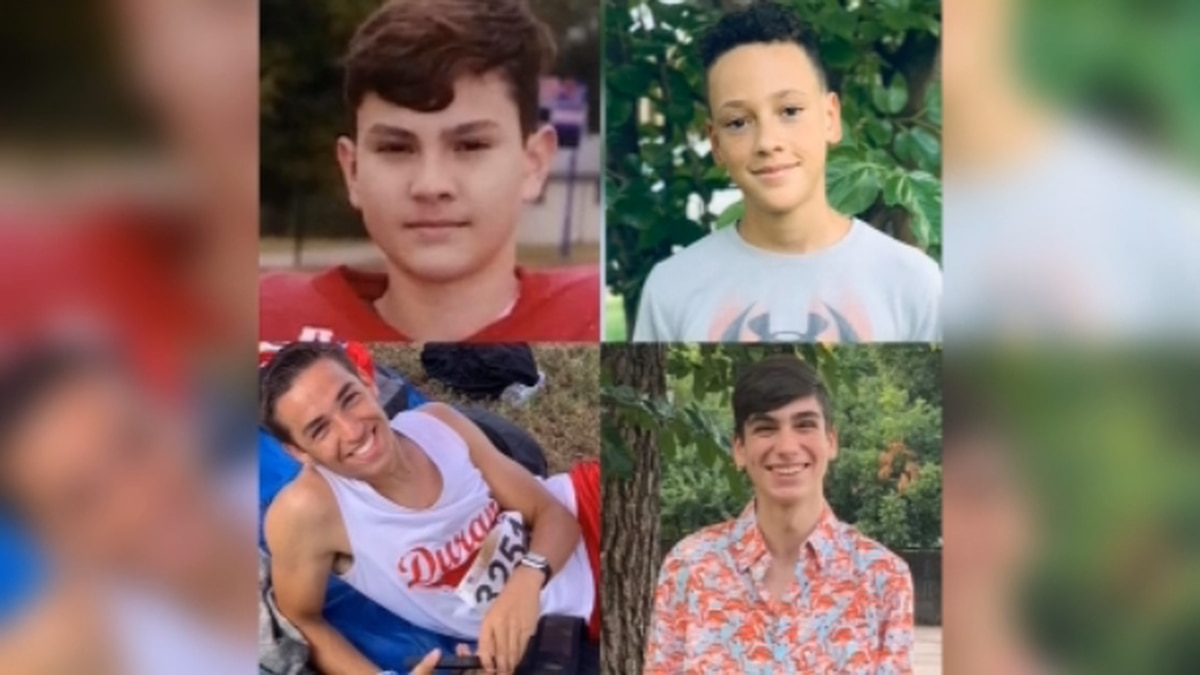 Jack Sarver, Fernando Flores, Hunter Ford, and Kaleb Foster were killed May 24 after a pickup truck slammed into the back of their car at an intersection. All four were students at Durant High School.