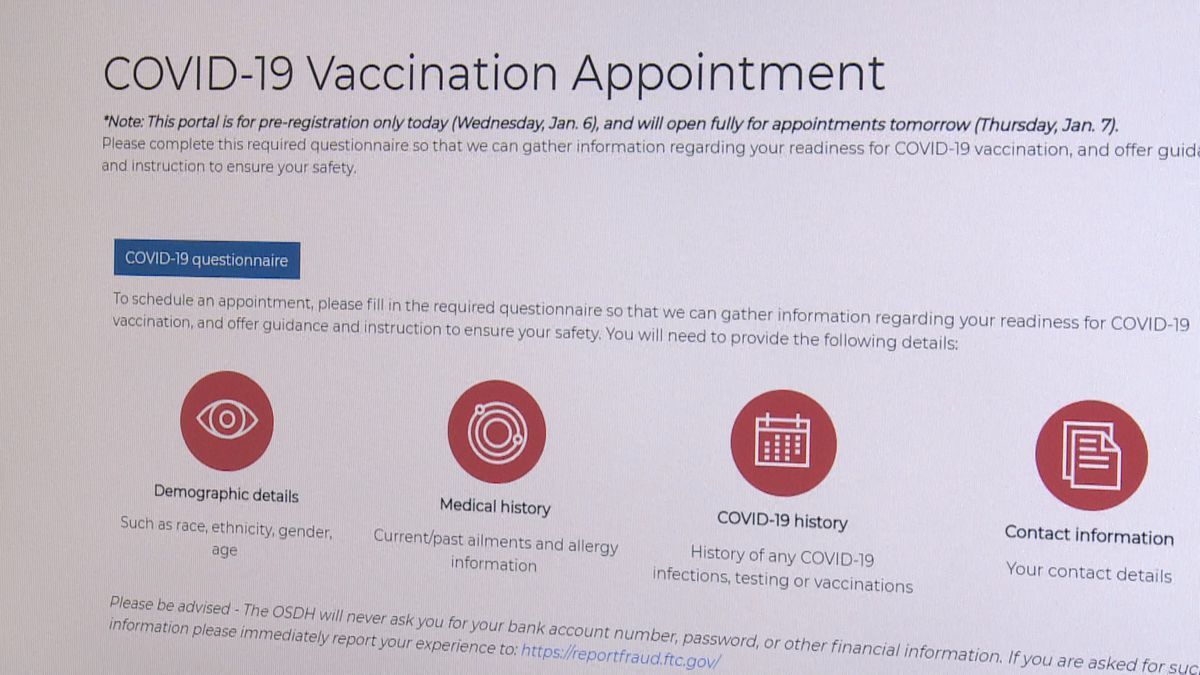 The Oklahoma State Department of Health launched an online portal to help distribute the...