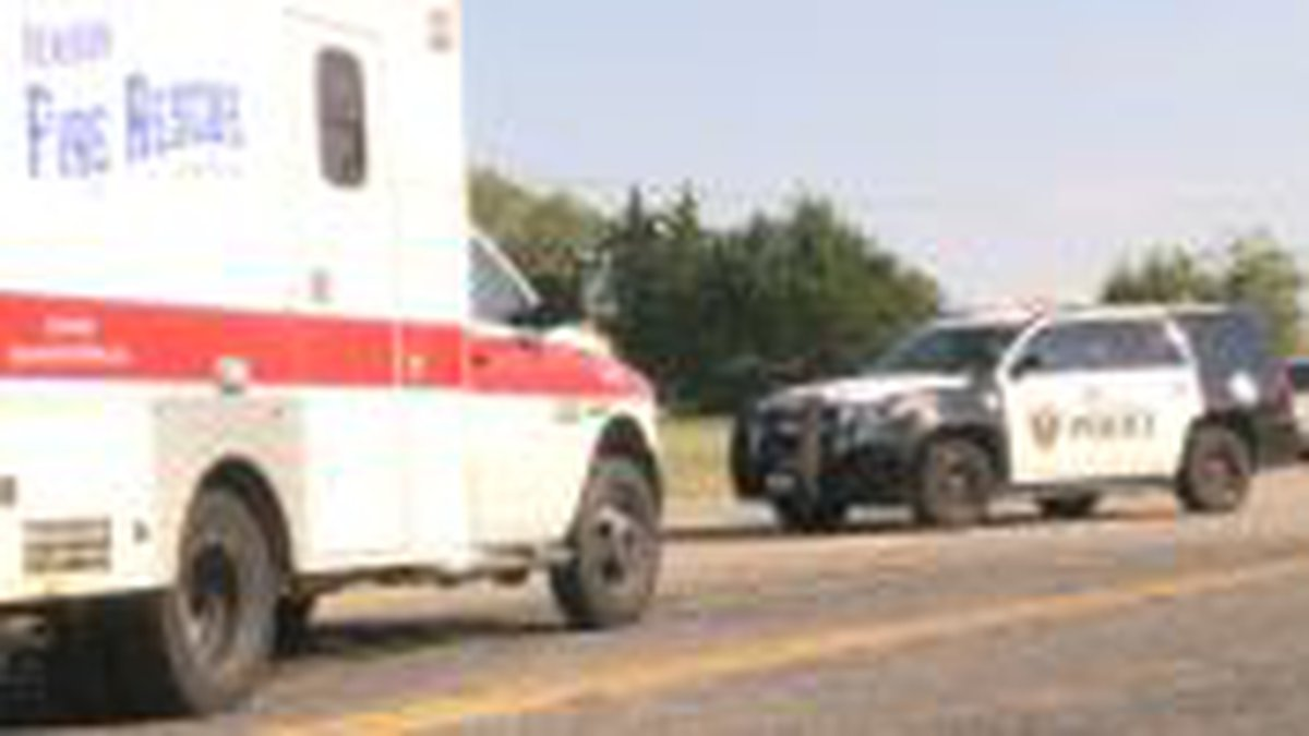 One person was taken to the hospital after a motorcycle hit a car in Denison.