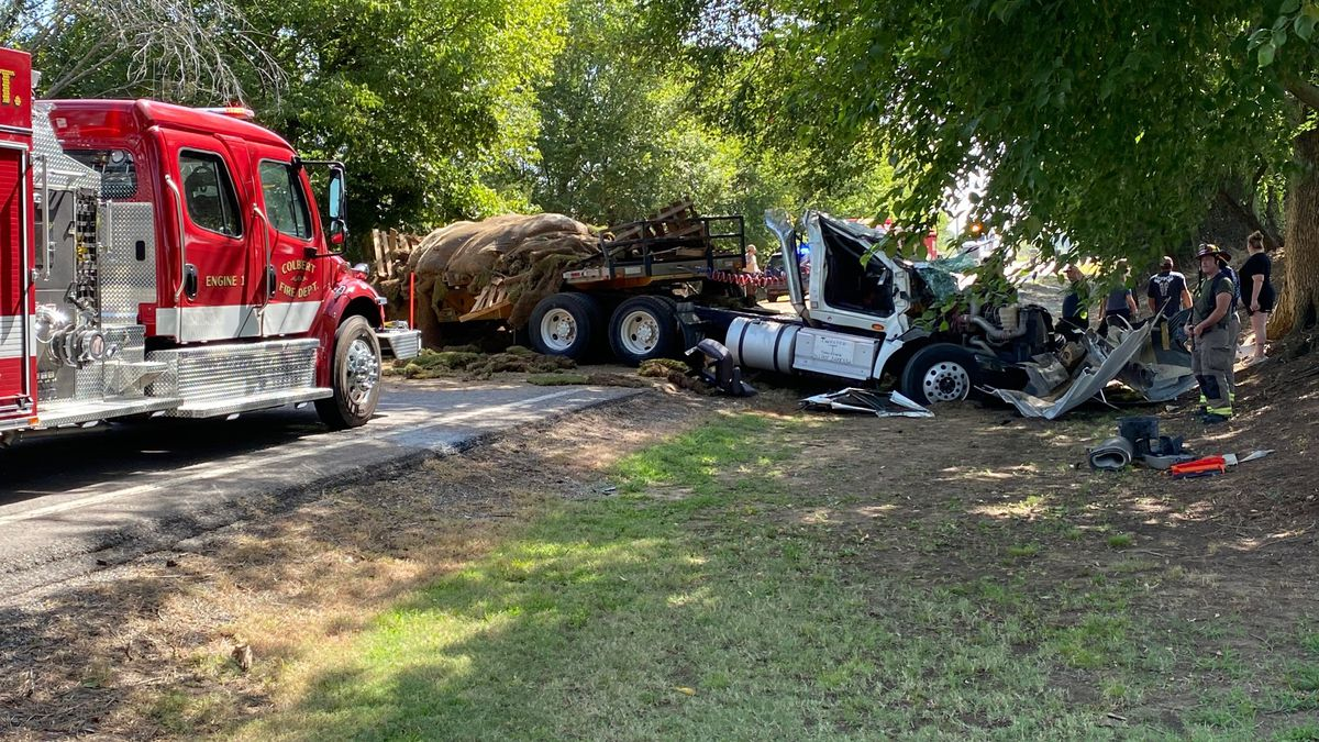 State Highway 91 in Bryan County is closed after a semi crash Monday morning.