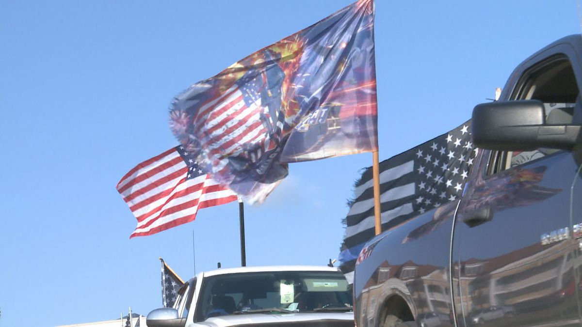 Nearly 50 cars lined the Ardmore Veteran Center Saturday for the drive for 45 and American...