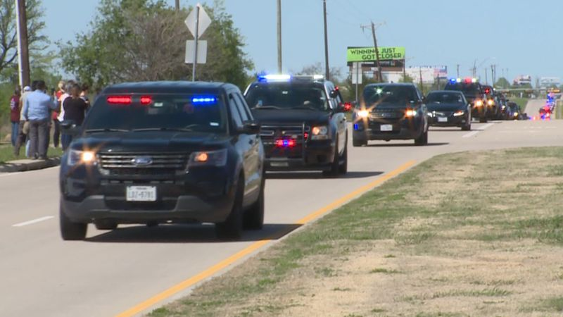 Community members, troopers, officers, and fireman from all over North Texas honor fallen...