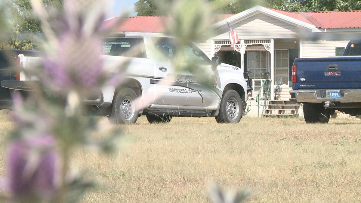 Local and state law enforcement agencies on scene at the Horath's residence on Page Road in Kingston, Okla. on Wednesday, Aug. 22, 2019