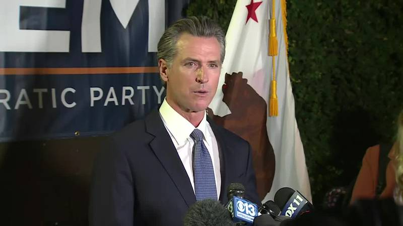 Newsom framed the recall election as a struggle to protect the state's progressive values on...
