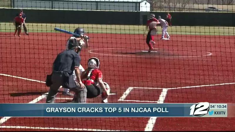 Grayson softball cracks top 5 NJCAA ranking