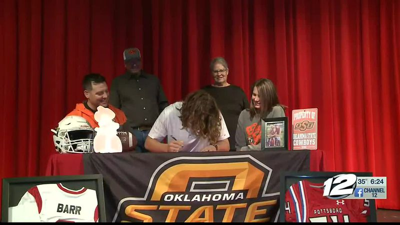 Pottsboro's Silas Barr signs with OSU