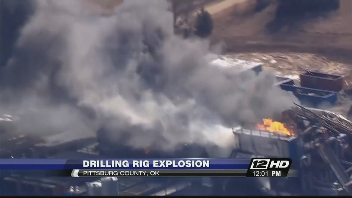 COURTESY KOTV / An emergency official says five people are missing after an explosion at a...