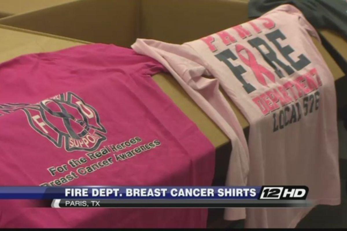 Fire Department Sells Breast Cancer Shirt
