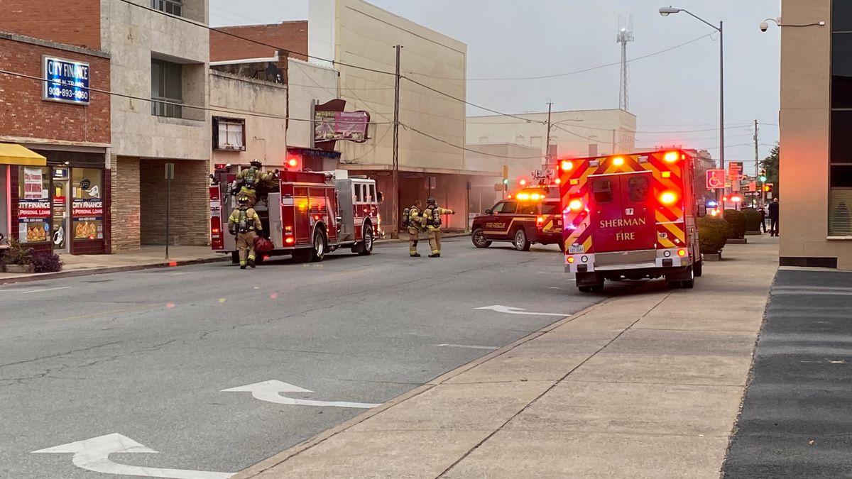 Downtown Sherman fire (Oct. 19, 2020)