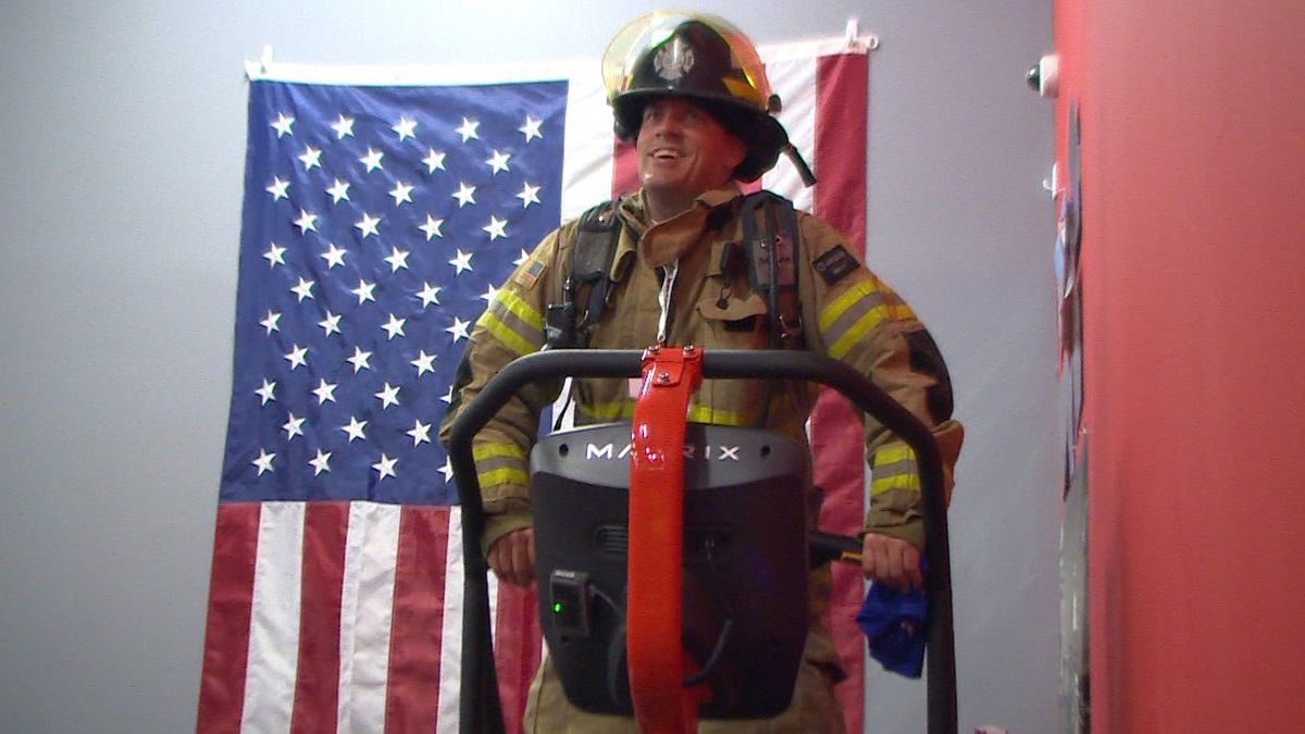 Local firefighter, Jay Bergner shares his story, why he does the 110 flight stair climb every year.
