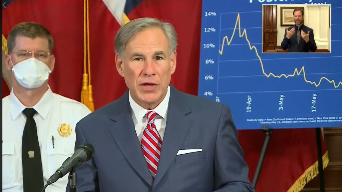 Texas Gov. Greg Abbott addresses the state's response to COVID-19 on Monday, June 22, 2020.