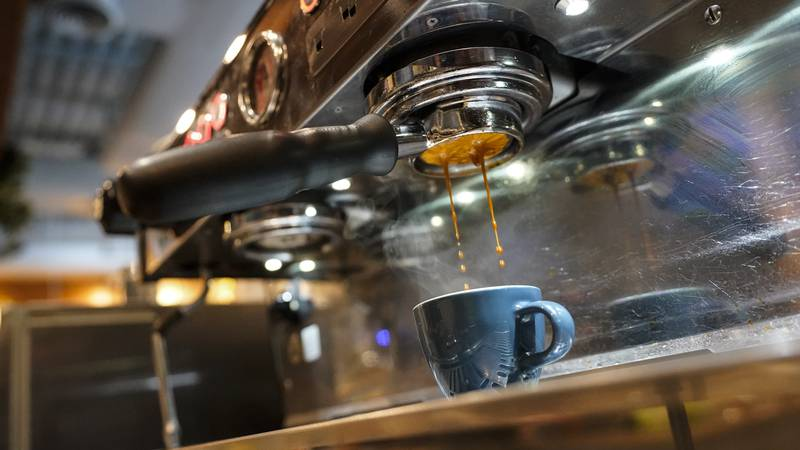 Coffee is prepared at Vigilante Coffee, Wednesday, Sept. 1, 2021, in College Park, Md. A...