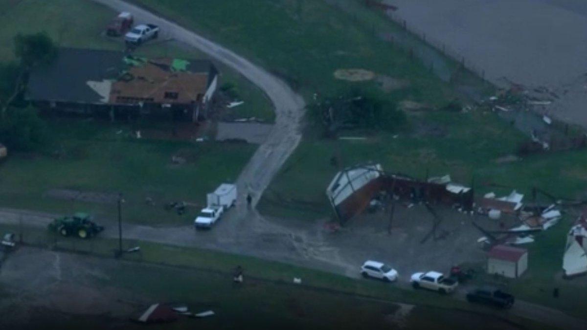 Storm damage near Pauls Valley, OK