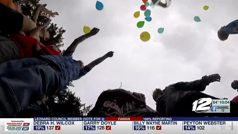 A Wilson mother celebrated her late son's fourth birthday with family and friends by releasing...
