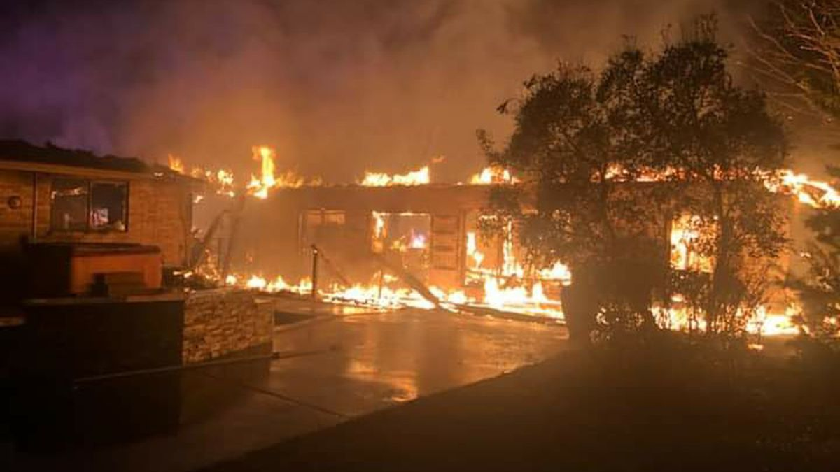 A family was displaced after a fire driven by high winds damaged their Van Alstyne home early...