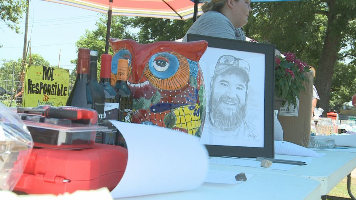 Davis community members got together Saturday to raise funds for a family who lost their father in an ATV accident.