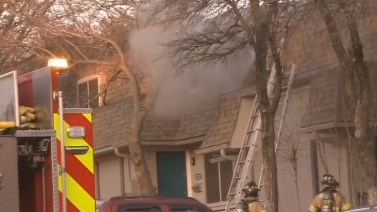 A family is without a home after a fire at a Sherman apartment complex late Wednesday afternoon.