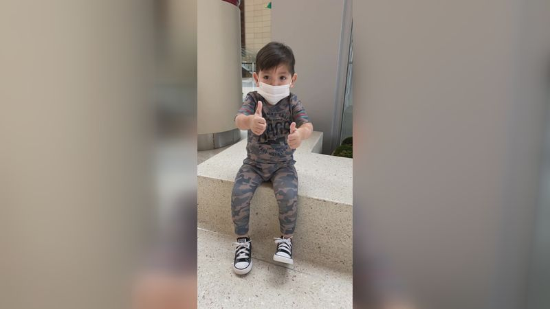 A 2-year-old-boy is expected to walk out of the hospital after receiving a new kidney...