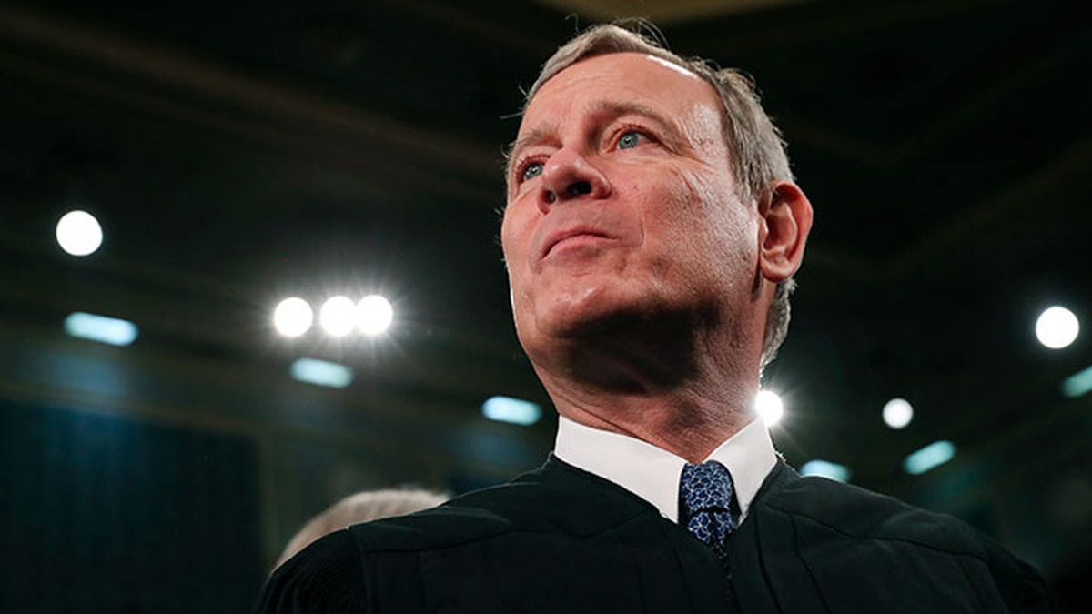 FILE - In this Tuesday, Feb. 4, 2020, file photo, Supreme Court Chief Justice John Roberts...