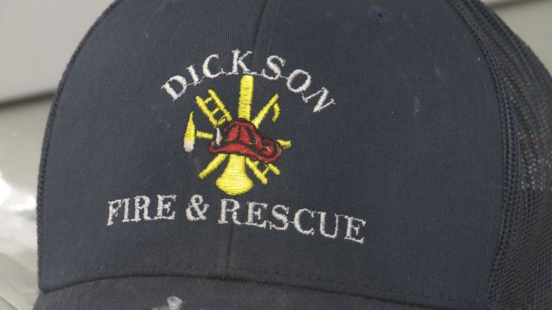 The Oklahoma State Fire Association gifted Dickson volunteer firefighters William Farmer and...