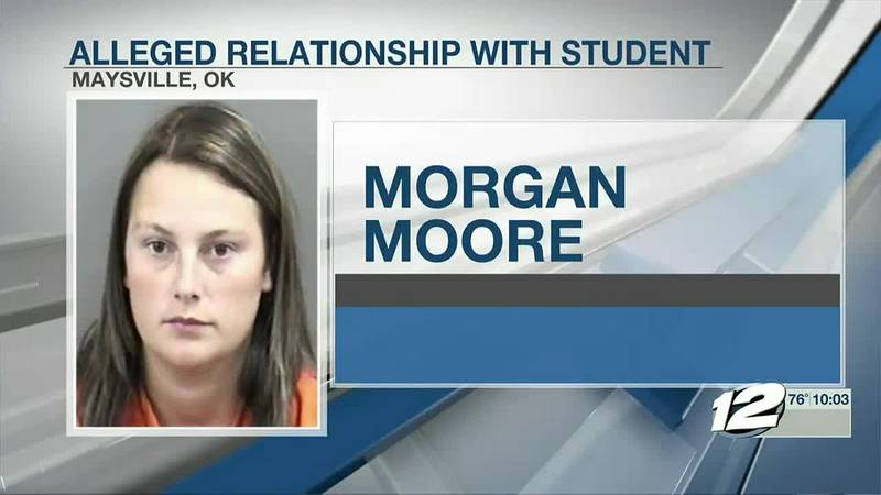 An Oklahoma teacher's aide was arrested for having a relationship with a student.