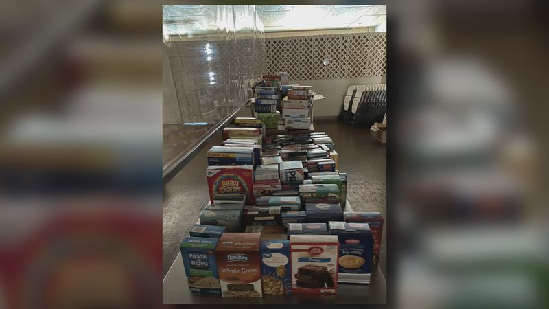 A reading challenge at Dickson Lower Elementary School turned into a challenge to feed people...