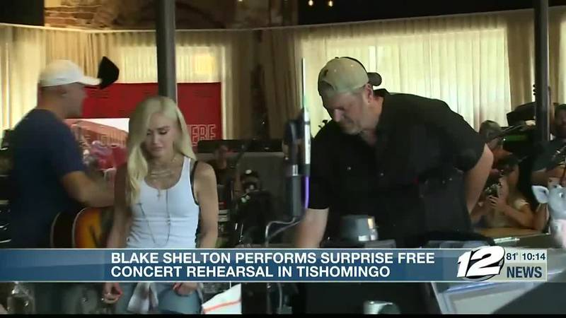 Texoma's own country music superstar Blake Shelton and his new bride, pop star Gwen Stefani,...
