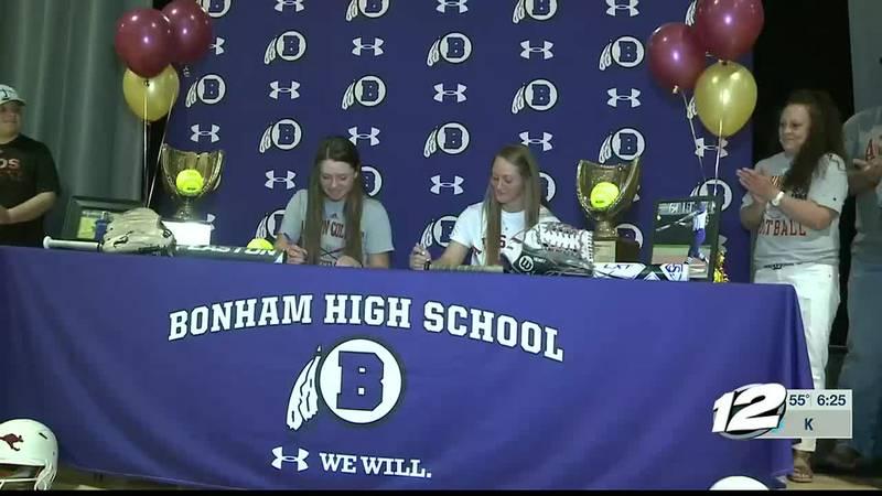 Bonham duo sign to play softball at AC