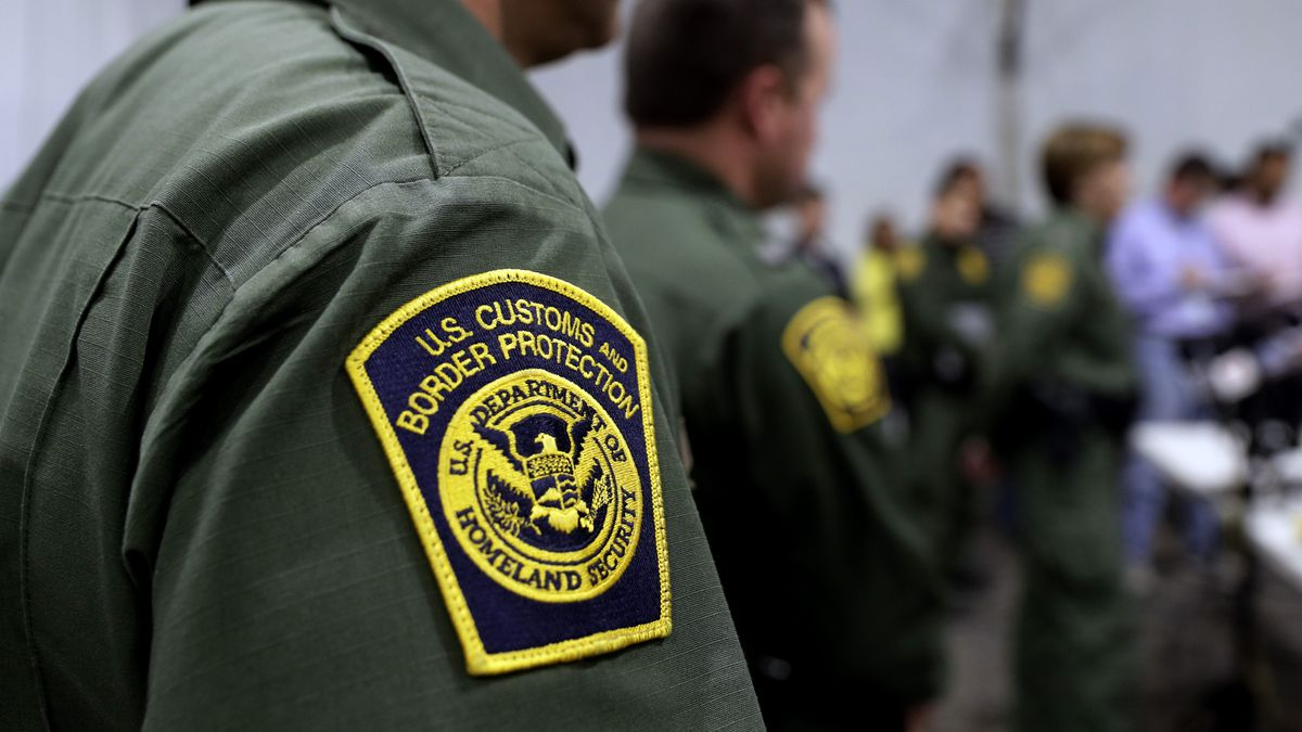 FILE - In this Thursday, May 2, 2019 file photo, Border Patrol agents hold a news conference...
