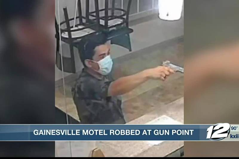 Gainesville motel robbed at gunpoint.