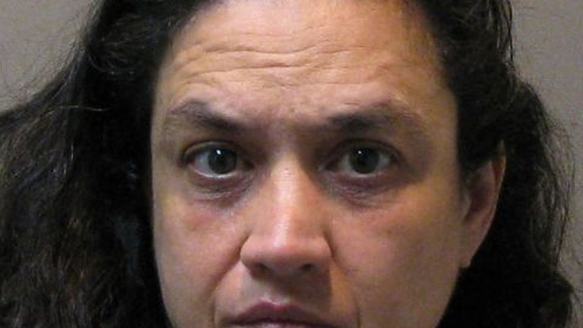 Amy Reaves is accused of throwing a kitchen knife at her husband following an argument.