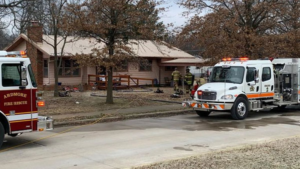One person was killed in a house fire in Ardmore Thursday.