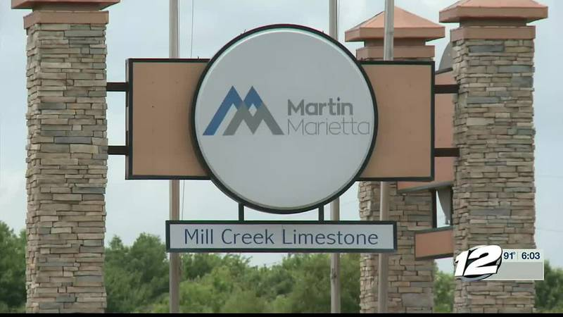 A crane operator was taken by helicopter out of the Martin Marietta Mill Creek Limestone Quarry...