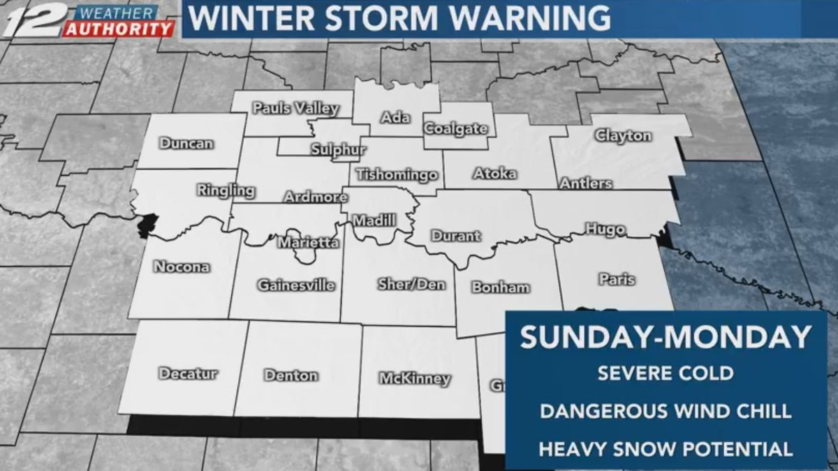 A major winter storm is expected to impact Texoma Sunday into Monday.