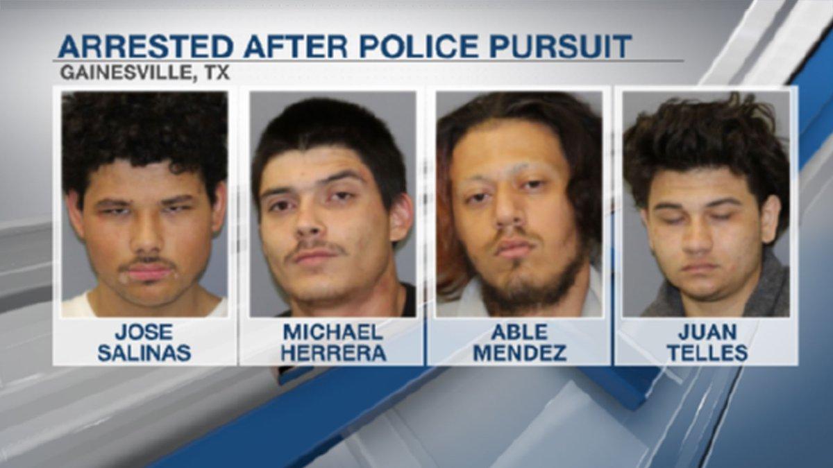 Jose Salinas, 18, Michael Herrera, 21, Able Mendez, 18, Juan Telles, 19, are all in the Cooke...