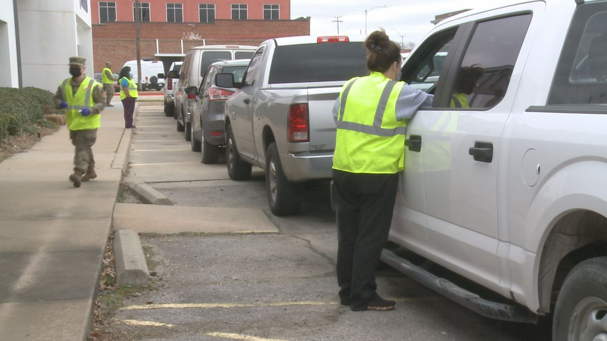 The Oklahoma State Department of Health held vaccine pop-up events Monday in Carter, Marshall,...