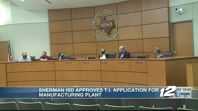 The school board unanimously approved the application for the plant at their meeting on Tuesday.