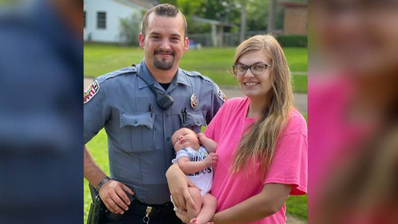 How the experience has moved the hero cop and the infant's family.