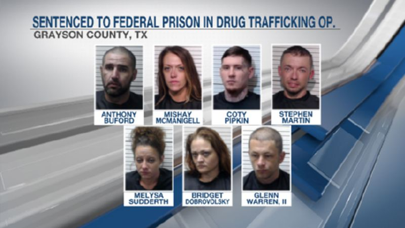 Several Grayson County residents have pleaded guilty in a drug trafficking conspiracy, federal...