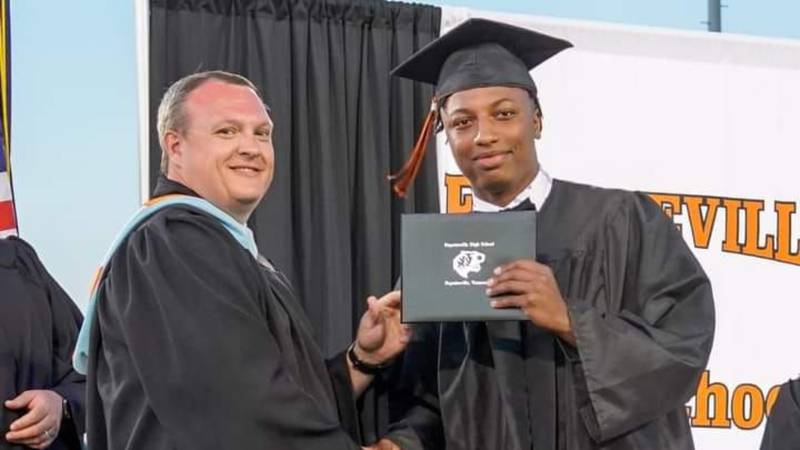 Kemarion Lay, 17, died in a lawnmower accident two weeks after graduating high school.